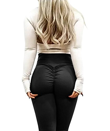Remikstyt Womens Push up Leggings High Waisted Yoga Full Length Flexible Spandex Fashion Pants