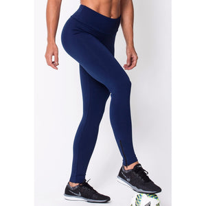 Navy Zip Up Legging
