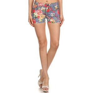 Emma Denim Flower Shorts