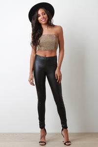 Vegan Leather Tight Leggings