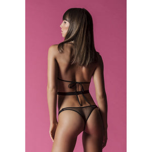 NO CONTROL Fishnet Halter Teddy