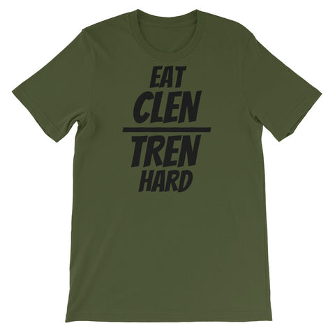 GREEN - EAT CLEN TREN HARD - T-SHIRT