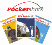 Pocketshots range, with yellow, dark and light blue pocketshot covers.