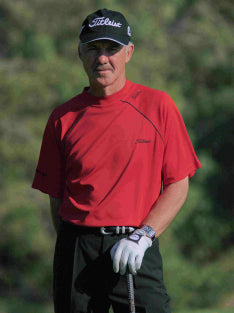 Pete Cowen, Profile photo in red shirt and black cap