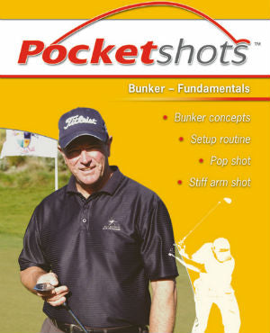 Yellow pocketshots bunker fundamentals with Mark Holland in a cap.