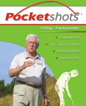 Light green pocketshots putting fundamentals front cover with Harold Swash in a white shirt