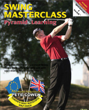 Swing Masterclass the Pyramid of Learning DVD front cover with Pete Cowen.