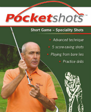 Dark green pocketshots short game speciality shots front cover with Keith Williams in orange shirt