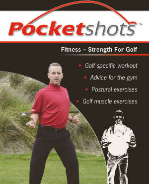 black pocketshots fitness strength for golf with Ramsay McMaster in a red shirt