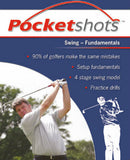 Dark blue pocketshots swing fundamentals front cover with David Wilkinson.