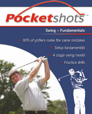 Dark blue pocketshots swing fundamentals front cover with David Wilkinson in a white shirt