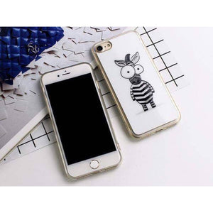 Cartoon Zebra iPhone Case
