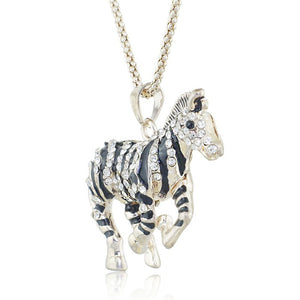 Crystalized Zebra Necklace