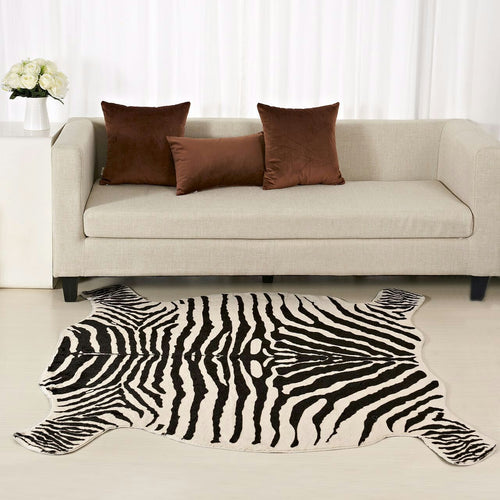 Faux Zebra Skin Carpet