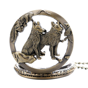 Vintage Wolf Pocket Watch