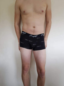 Twin Pack - Men's Bamboo Fitted Boxers - Black Cannon