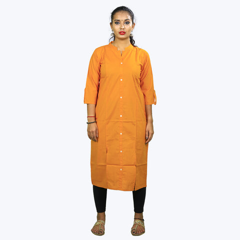 straight fit collared  Kurta