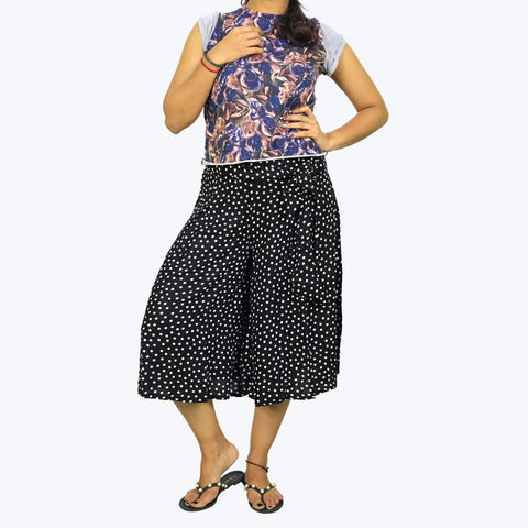 Blue printed Culottes