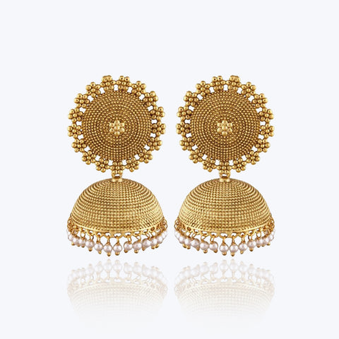 Big Golden coloured jhumki