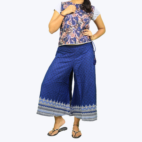Blue colour printed Culottes