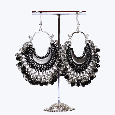 Black Afghani Earrings