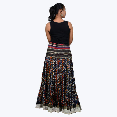 Multicoloured cotton printed Skirt