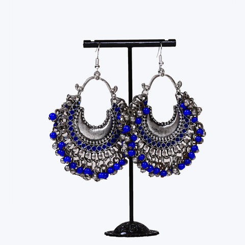 Fancy blue colour earrings