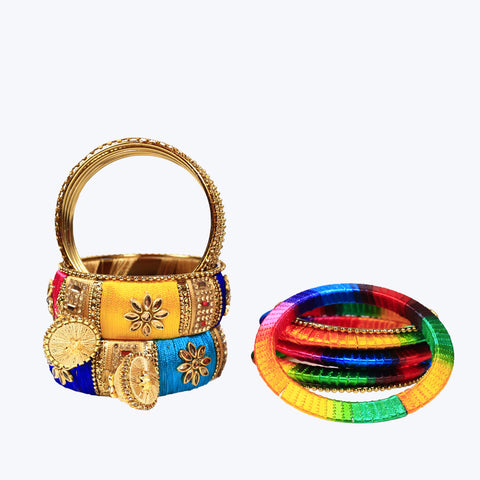 Multi coloured silk thread Bangles