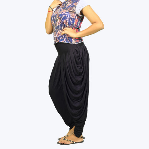 Solid Dhoti Pants