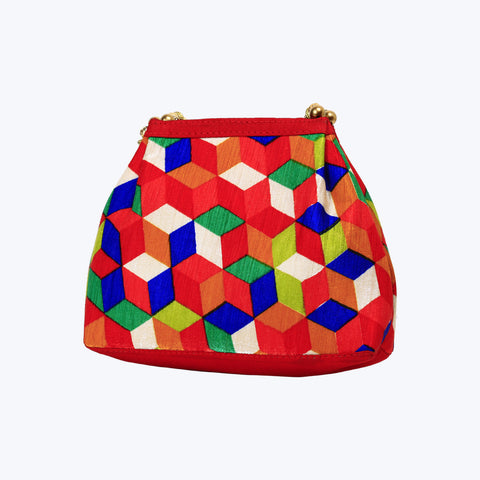 Multicoloured shoulder bag