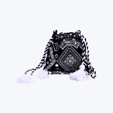 Black Mirrored Potli Bag
