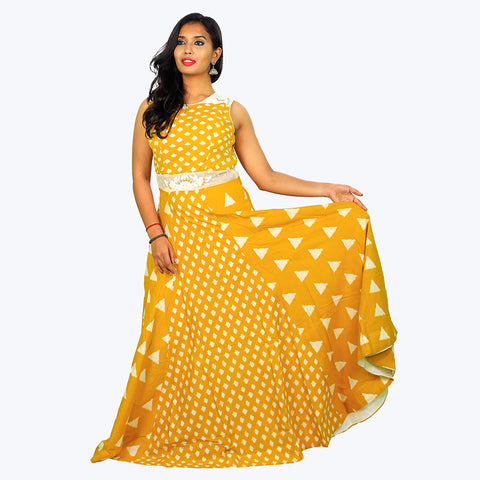 Women Yellow Trendy Anarkali