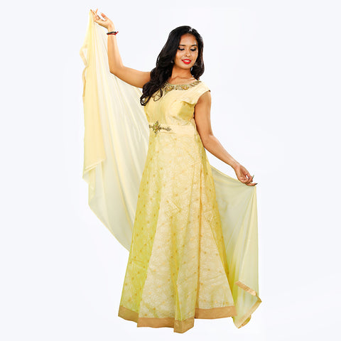 Women's Beige Anarkalis