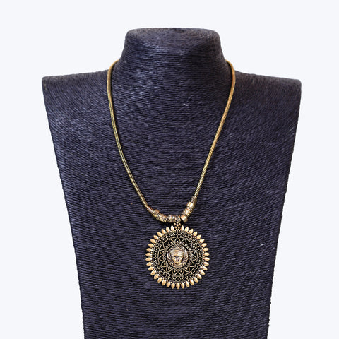 Ethnic Golden Oxidised Necklace