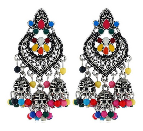 Big Resin Long Jhumka Drop Ears