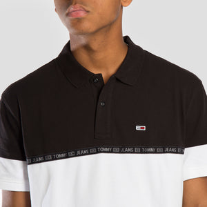 Tommy Jeans Polo Tape - DM0DM08378-BLK - Colección Chico