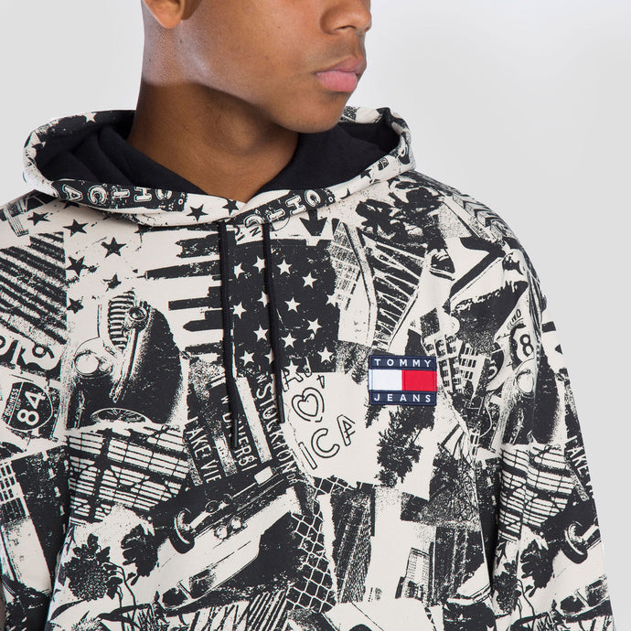 Tommy Jeans Sudadera Allover Print - DM0DM08409-0GY - Colección Chico