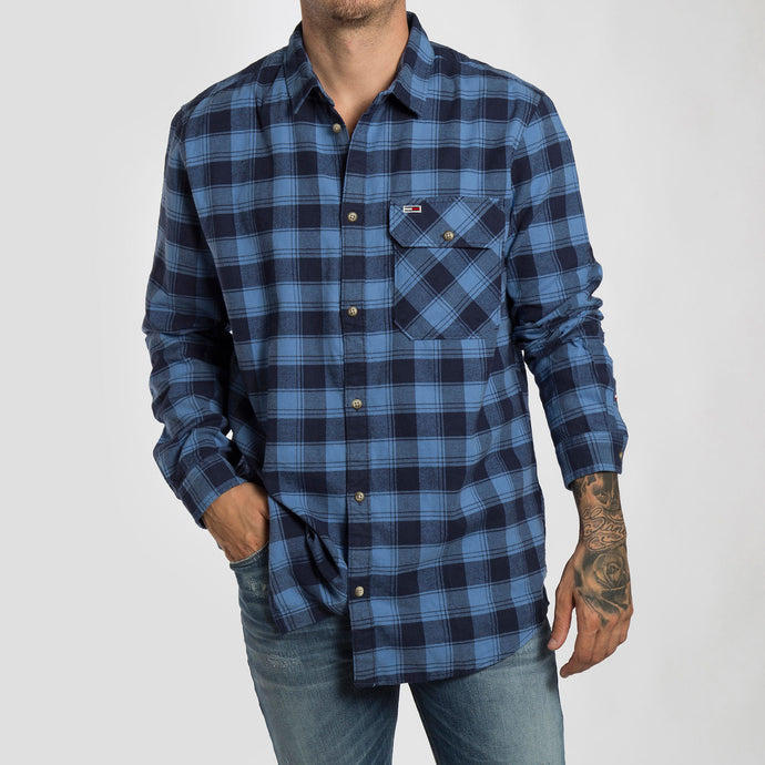 Tommy Jeans Camisa Flannel Check - DM0DM06936-CE4 - Colección Chico