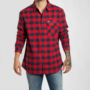 Tommy Jeans Camisa Flannel Check - DM0DM06936-XA8 - Colección Chico