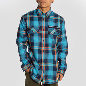Tommy Jeans Camisa Velcro Check - DM0DM07509-OM2 - Colección Chico