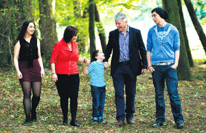 Declan Coyle and his family