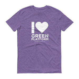 I Heart Green Platform T-Shirt White Version