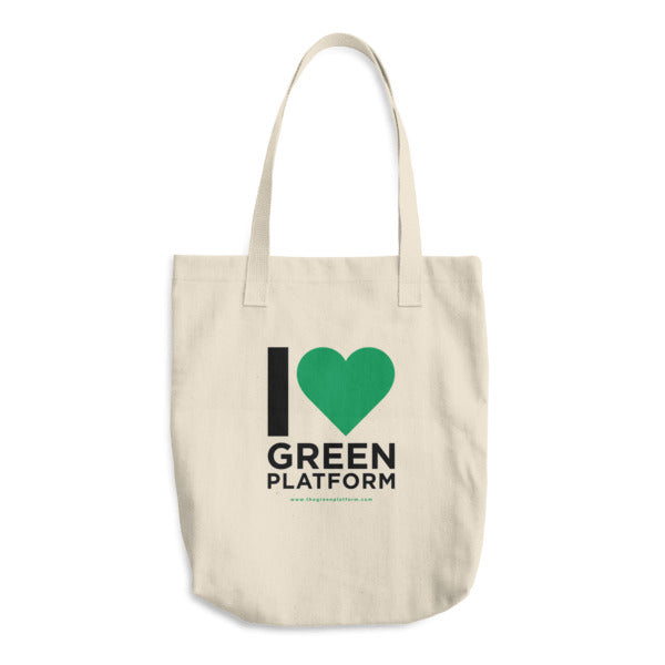 I Love The Green Platform Cotton Tote Bag
