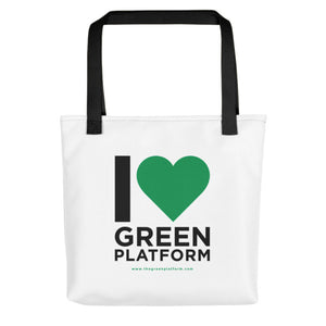 I Love The Green Platform Tote bag