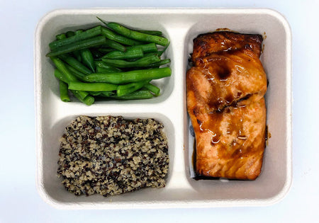 Coconut Amino Marinaded Salmon Meal