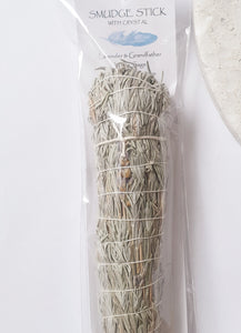 Crystal Magic Smudge Lavender & White Sage