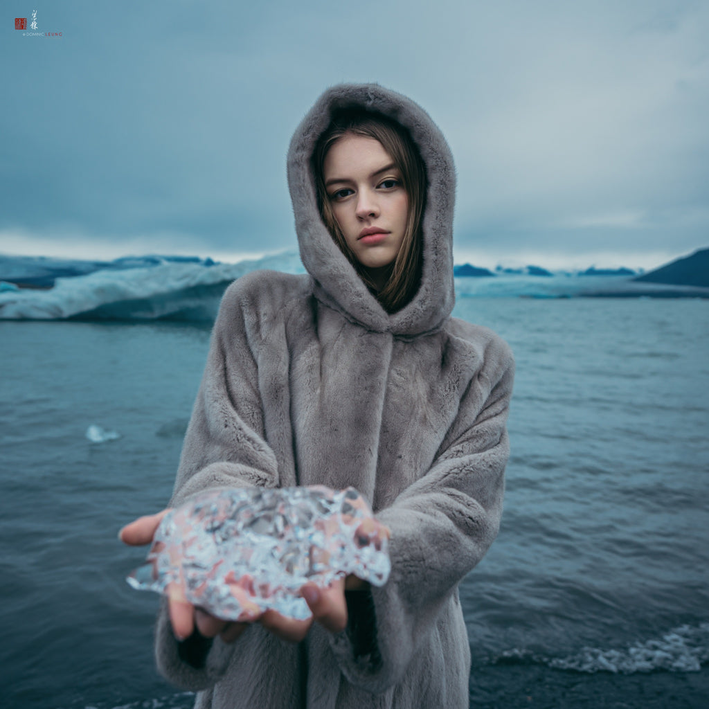 Photo taken at a glacial lake in Iceland. Photo by Liang Dong.