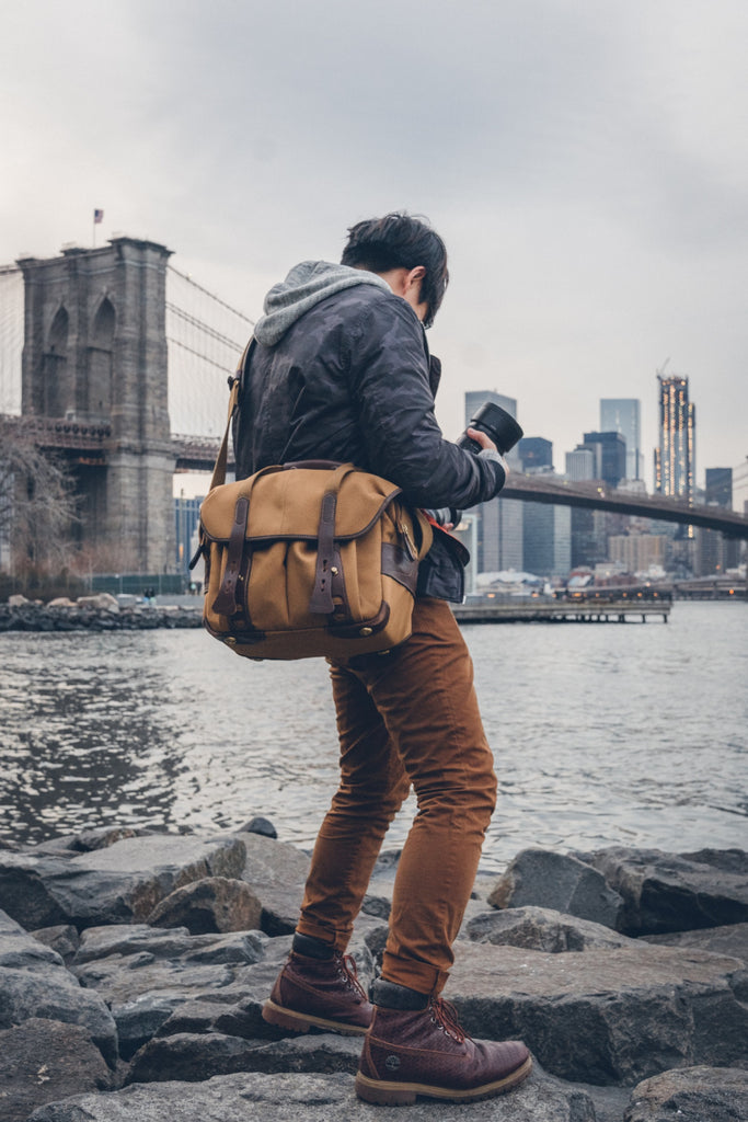 Liang Dong in New York with his Billingham 307