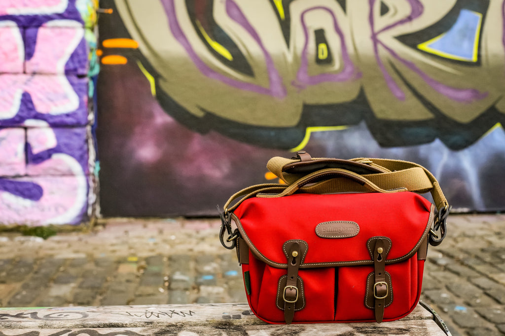 Billingham Hadley Small Pro Camera Bag in Burgundy Canvas and Chocolate Leather - Photo by Mandy Charlton
