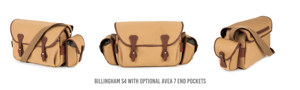 Billingham S4 Camera Bag with optional AVEA 7 End Pockets